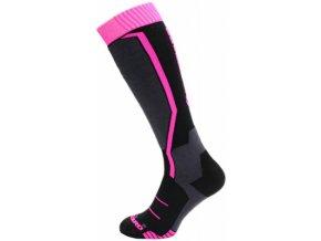 Lyžařské ponožky Blizzard Viva allround black/anthracite/magenta (velikost: 35-38)