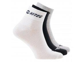 Ponožky Hitec chire  pack white black grey melange (velikost: 36 - 39)
