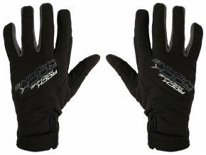 157127 1 dlouhoprste zimni rukavice rock machine race sedo cerne vel s