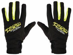 157142 1 dlouhoprste zimni rukavice rock machine race zeleno cerne vel s