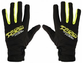 157151 1 dlouhoprste zimni rukavice rock machine race zeleno cerne vel xl