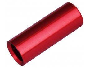 147236 koncovka bowdenu max1 cnc alu 4 mm cervena 100 ks