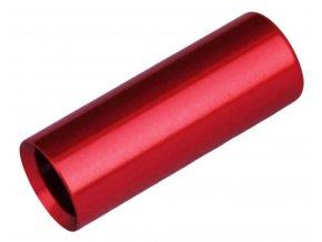 148442 koncovka bowdenu max1 cnc alu 4 mm utesnena cervena 100 ks