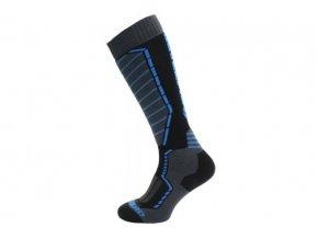 Lyžařské ponožky Blizzard profi ski socks  black/anthracite/blue (velikost: 43-46)