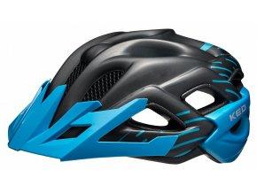 154961 prilba ked status junior s black blue matt 49 54 cm