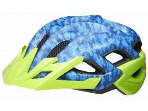 154967 prilba ked status junior s camouflage blue green 49 54 cm