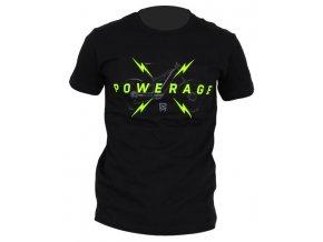 153344 tricko rock machine unisex cerne vel l logo powerage