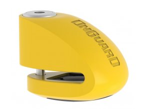 150206 zamek onguard diskovy s alarmem pin 6 mm zluty