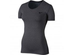 Dámské Fitness tričko Nike PRO COOL šedá (velikost: M)