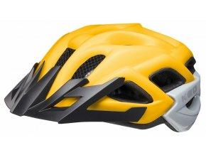 158327 prilba ked status junior m yellow black matt 52 59 cm