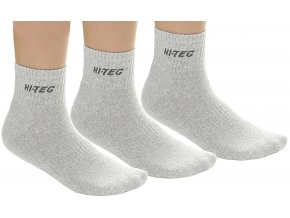 Hi-tec quarro pack Jr grey melange Ponožky (velikost ponožek 28-32)