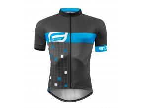 Force Square šedo modrý  90012872 Pánský cyklistický dres (velikost L)
