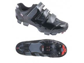 Cyklistická obuv Force MTB Free černé (velikost obuvi 39)