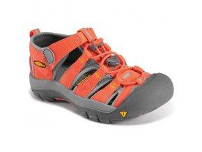 Dětské sandále Keen Newport H2 hot coral/corydalis (velikost Keen EU 32/33)