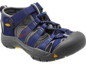 Dětské sandále Keen Newport H2 Junior blue depths/gargoyle (velikost Keen EU 30)