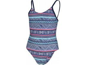 Dívčí plavky Stuf Tinka tmavě modrá tyrkys tmavě růžová (velikost: 116)