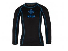 Juniorské funkční triko s dlouhým rukávem Kilpi Takas jr černo modré (velikost: 152)