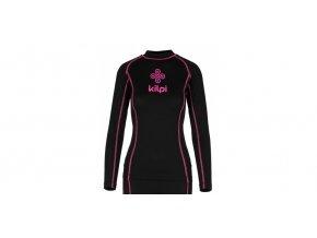 Juniorské funkční triko s dlouhým rukávem Kilpi Takas jr černo růžová (velikost: 134-140)