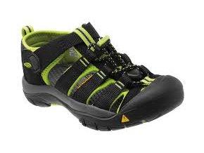 Dětské Sandále Keen Newport H2 black/lime green (velikost obuvi 34)