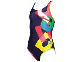 Dívčí plavky Arena G Patch Jr. one 2a787 70 (velikost: 6-7)