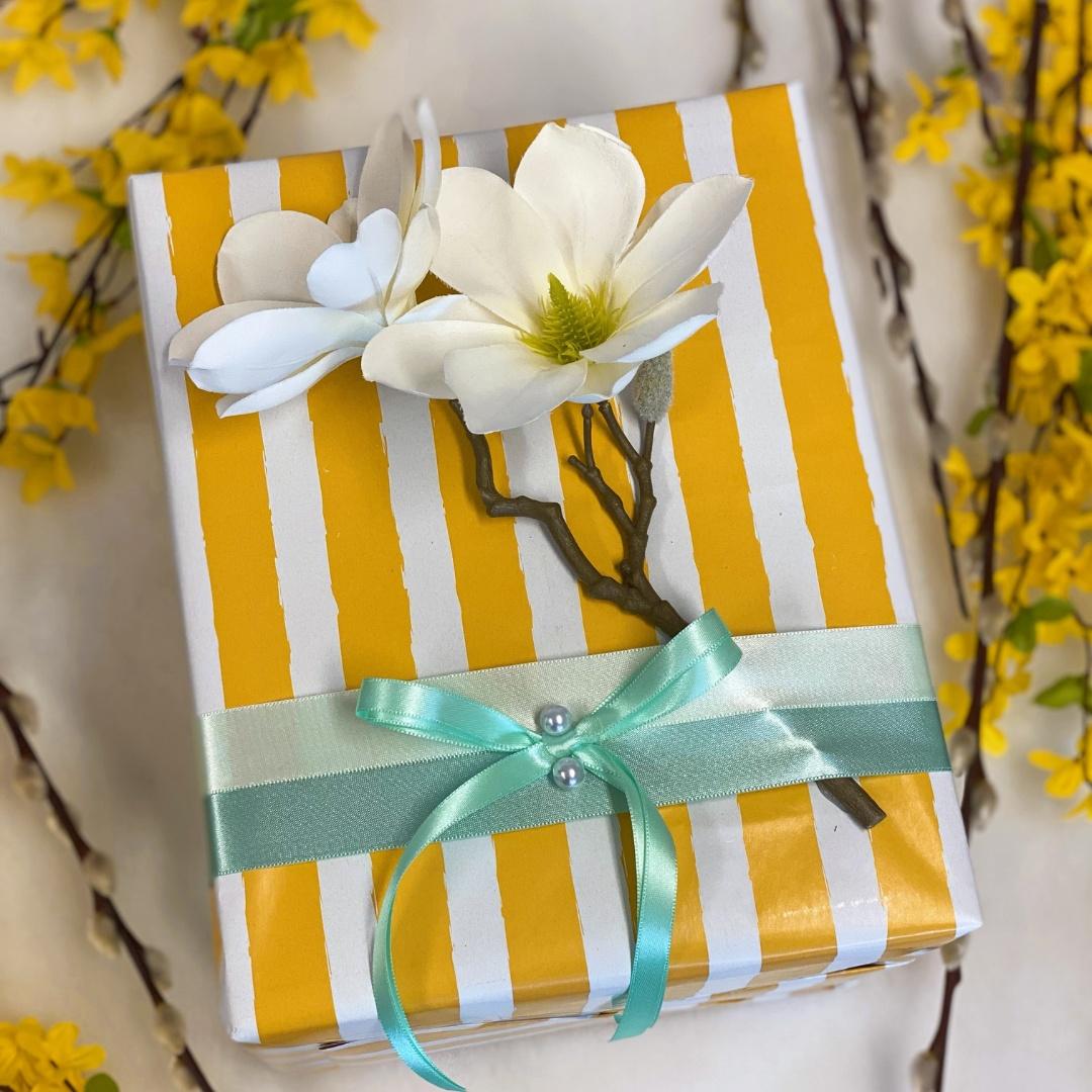Balení dárků - Jarní žlutá inspirace