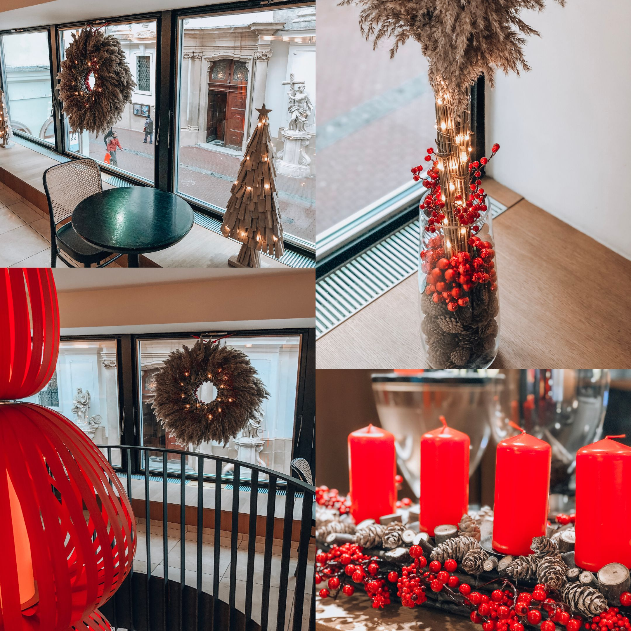 Velká realizace - Vánoční výzdoba kavárny Placzek