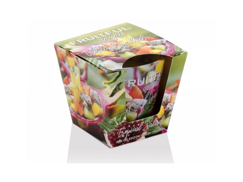 Svíčka vonná ve skle (115g) Fruitful tropical salad 8,5 cm