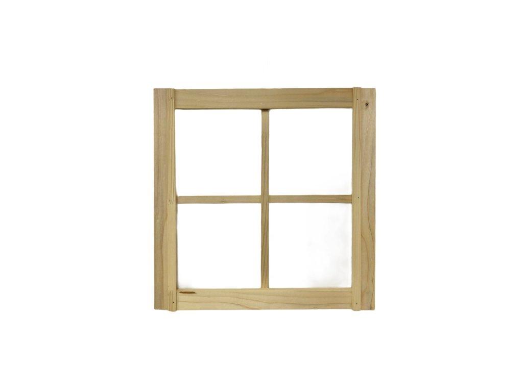 Závěsná dekorace dřevěné okno ze světlého přírodního dřeva 50 cm