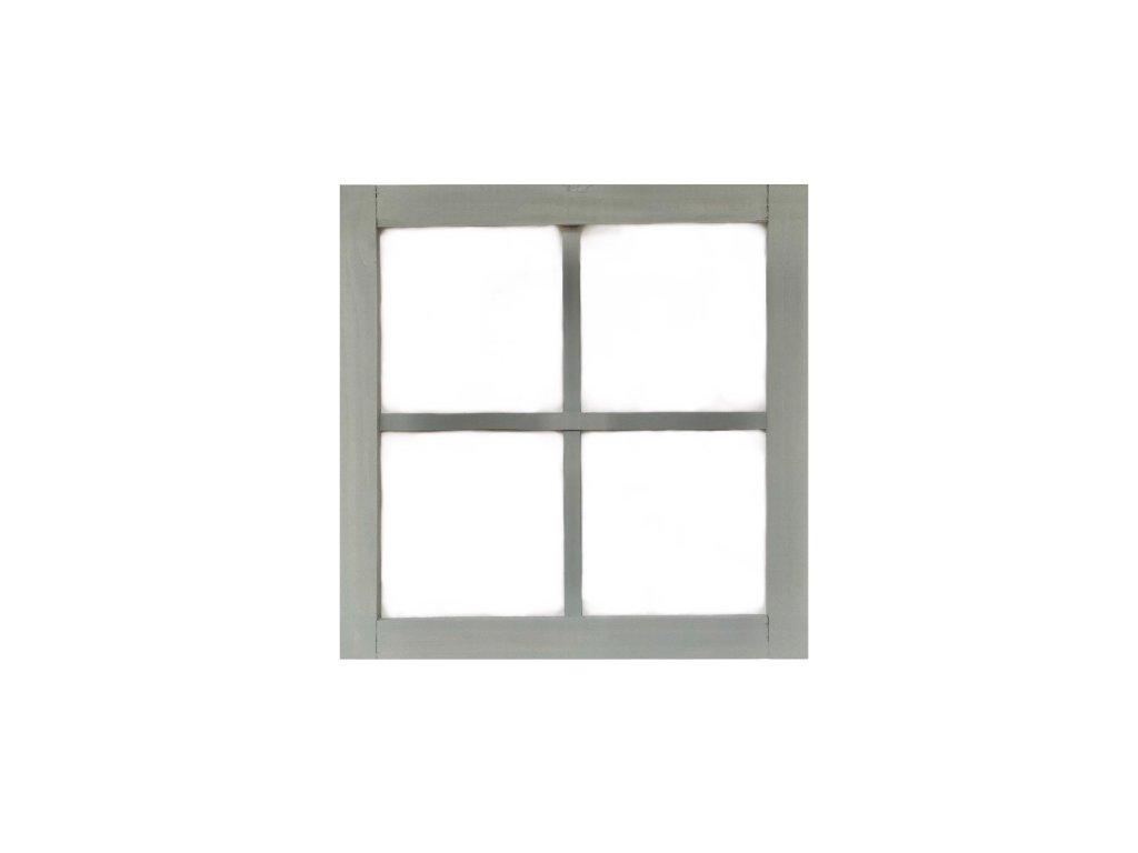 Závěsná dekorace dřevěné okno z šedého dřeva 50 cm