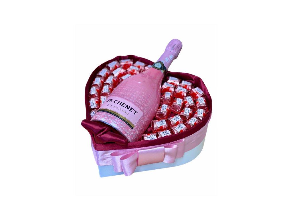 """Dárkový box ve tvaru srdce """"Mon Chéri"""" 30 cm"""
