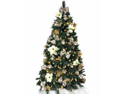 Sada ozdob o 82 kusech v zeleno - zlaté barvě na velikost stromu 150 cm