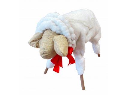 Ovce 90 cm s červenou stuhou