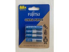 Baterie zinková AAA Fujitsu, blistr 4ks