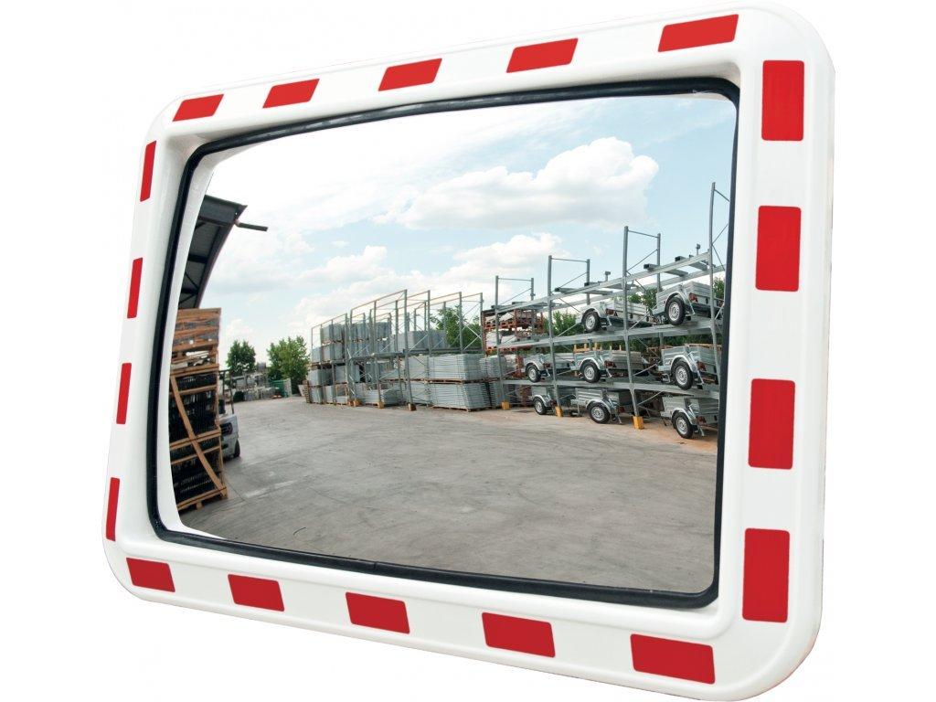 Dopravní zrcadlo obdélníkové 800 x 600 mm
