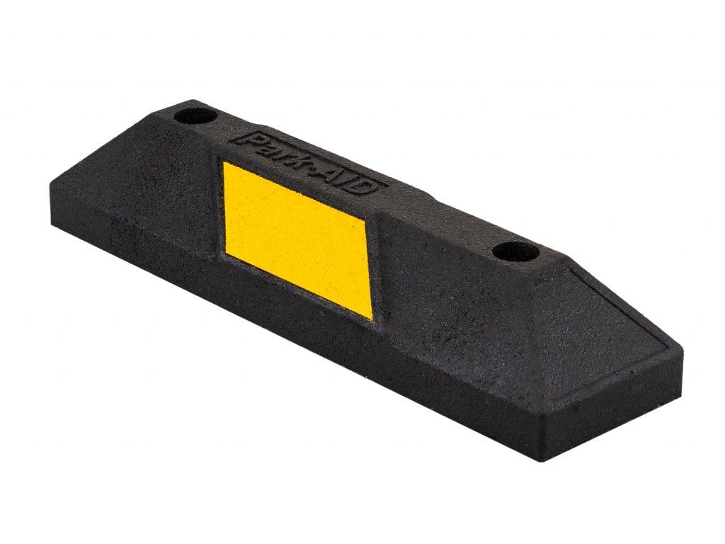 Parkovací doraz, délka 560 mm, gumový, s žlutým reflexním polepem