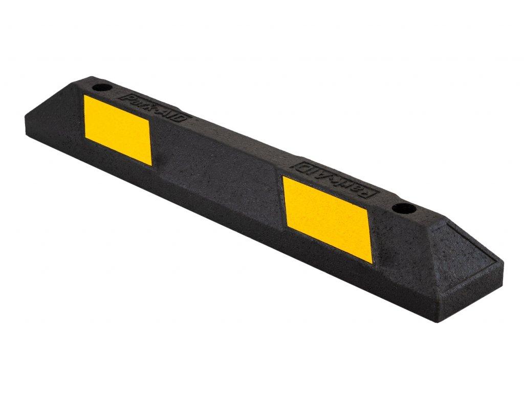 Parkovací doraz, délka 900 mm, gumový, s žlutým reflexním polepem