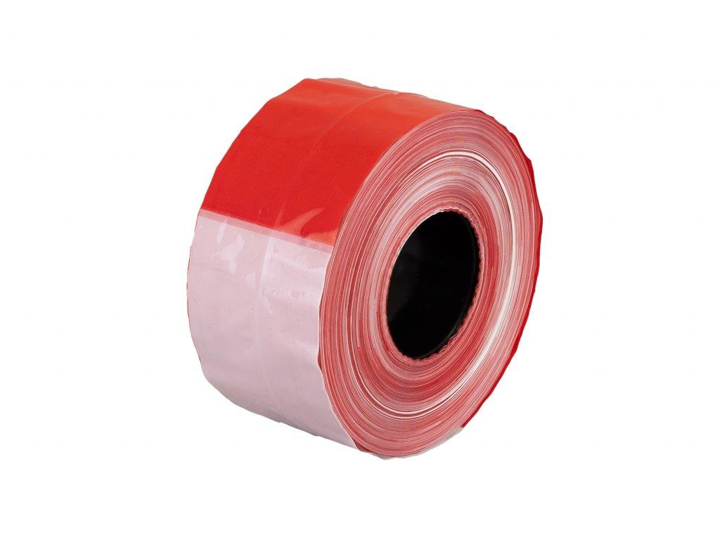 Výstražná nelepící páska, červenobílá, délka 500 m