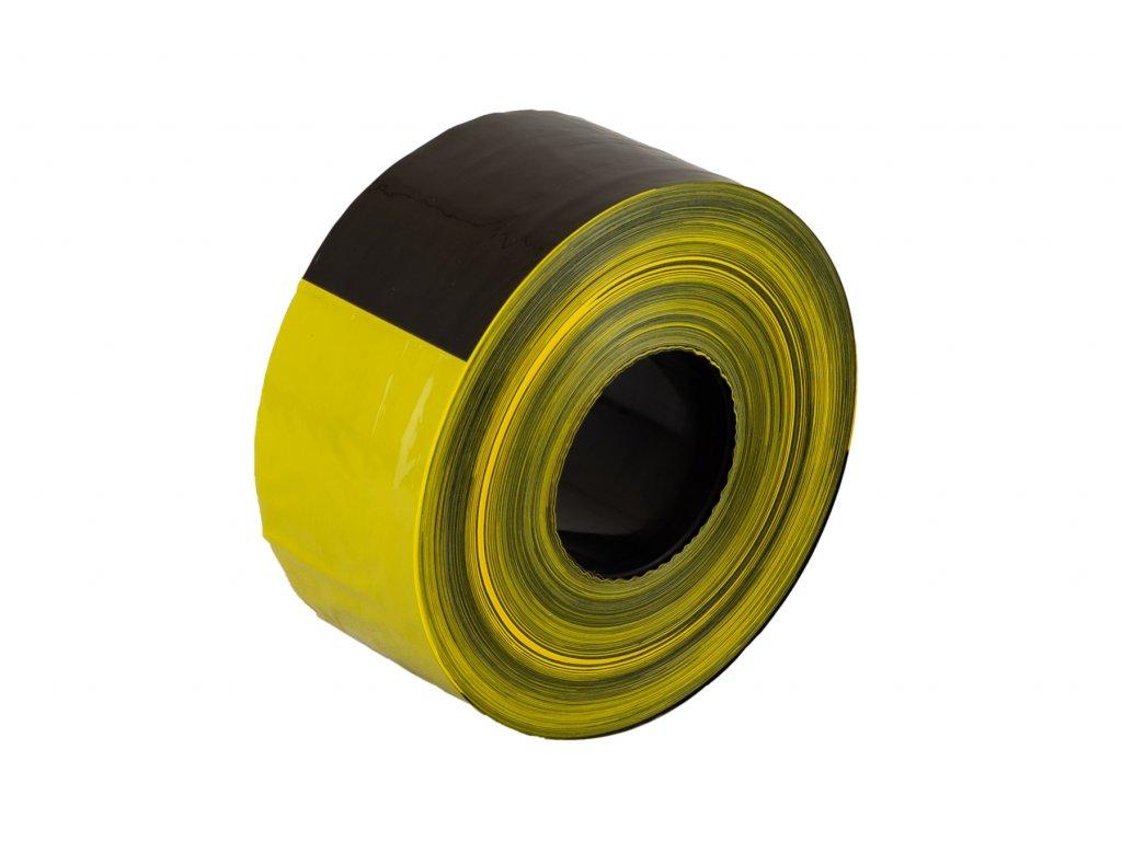 Výstražná nelepící páska, žlutočerná, délka 500 m