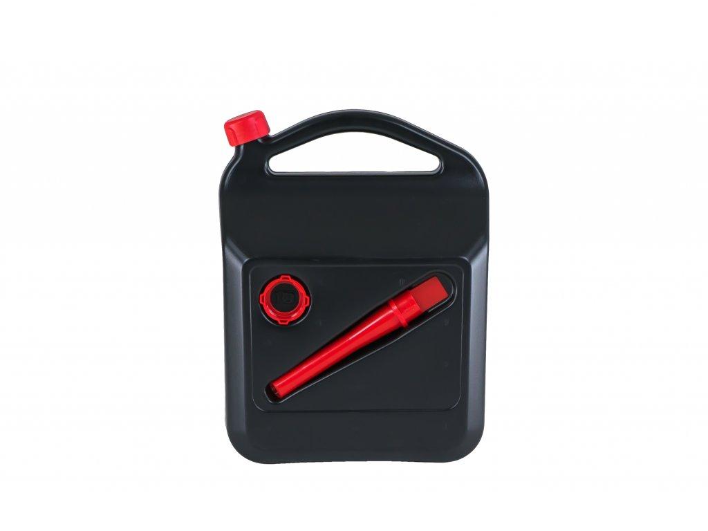 Plastový kanystr na pohonné hmoty, 10 litrů, černý
