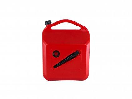 Plastový kanystr na pohonné hmoty, 20 litrů, červený