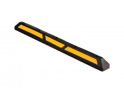 Parkovací doraz, délka 1650 mm, gumový, s žlutým reflexním polepem