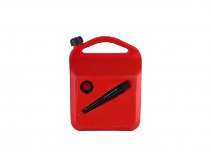 Plastový kanystr na pohonné hmoty, 10 litrů, červený
