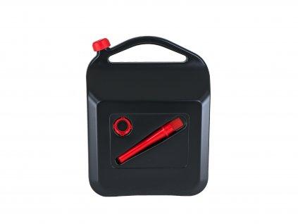 Plastový kanystr na pohonné hmoty, 20 litrů, černý