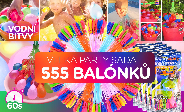 555 kusů Vodních balónků - Sada 5 balení vodních bomb
