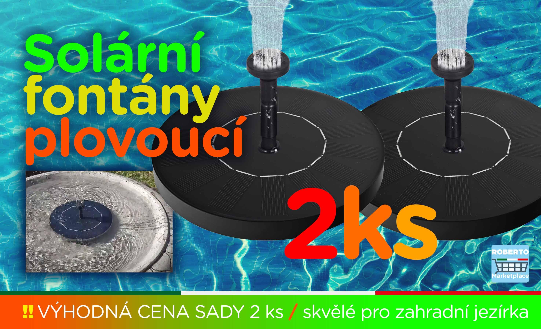 Solární fontány - Sada 2ks