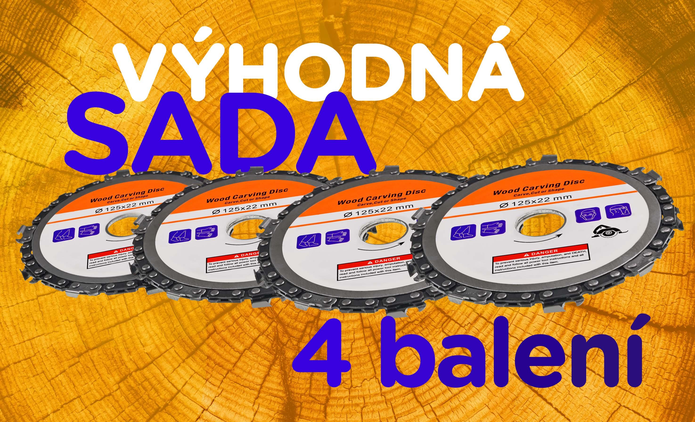 Výhodná sada 4 balení Kotoučů s řetězem 125x22 mm
