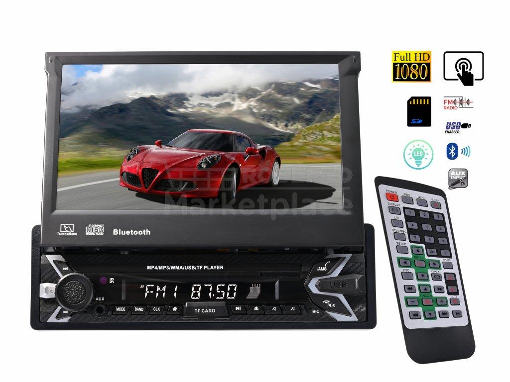multimedialni auto radio s automatickou obrazovkou bluetooth sdcard usb f1b