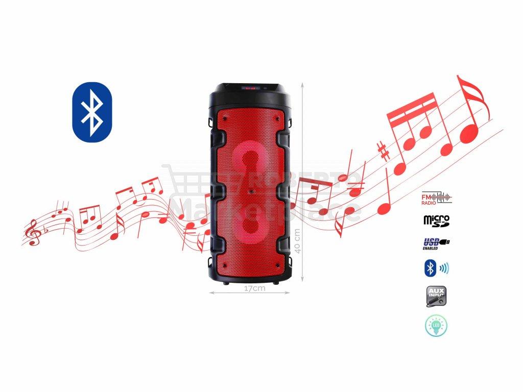 BlueTooth Speakers Model ZQS 4210 f1 cervena