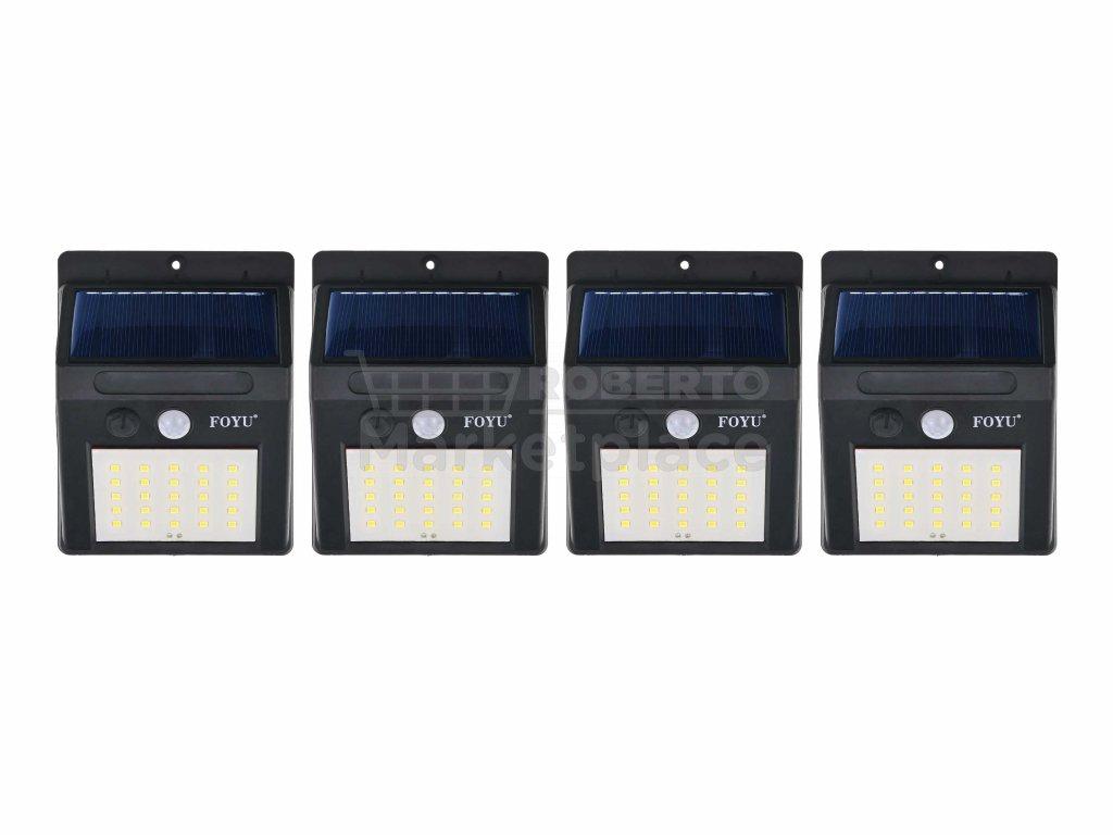 FOYU LED Solar HIGHLIGHT lampa na zed 25led f2 4ks