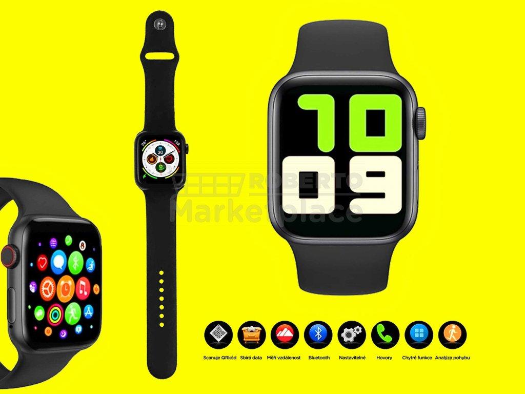 chytré hodinky 4druhy f cerne
